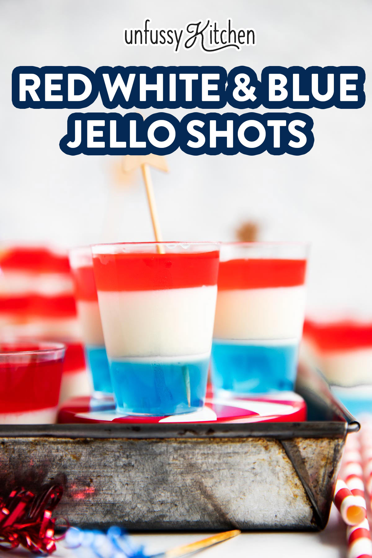photo of jello shots with text overlay