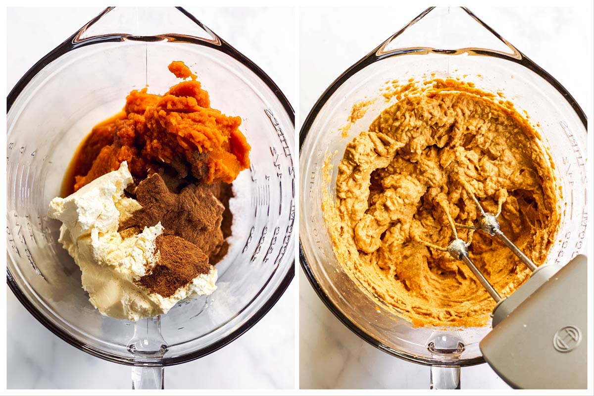 steps to prepare pumpkin mixture for pumpkin dip