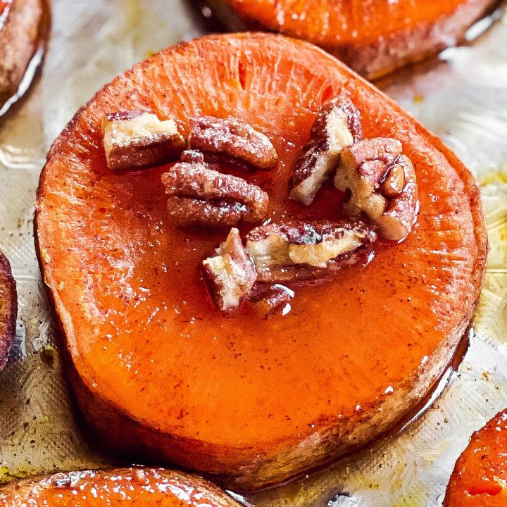 Candied Baked Sweet Potato Slices Recipe Unfussy Kitchen